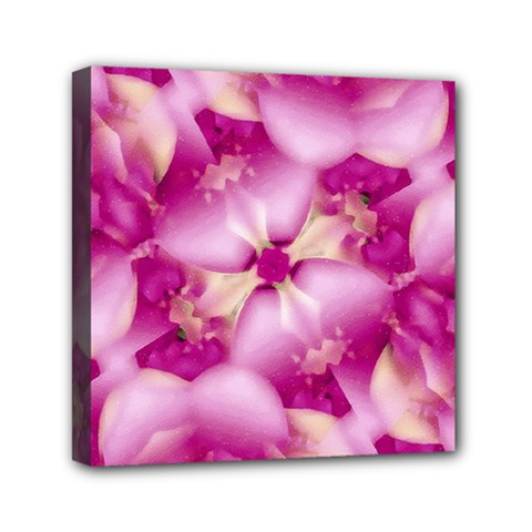 Beauty Pink Abstract Design Mini Canvas 6  X 6  (framed) by dflcprints