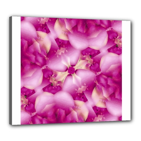 Beauty Pink Abstract Design Canvas 24  X 20  (framed) by dflcprints
