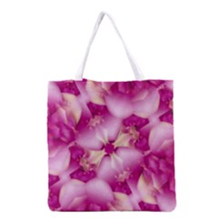 Beauty Pink Abstract Design Full All Over Print Grocery Tote Bag