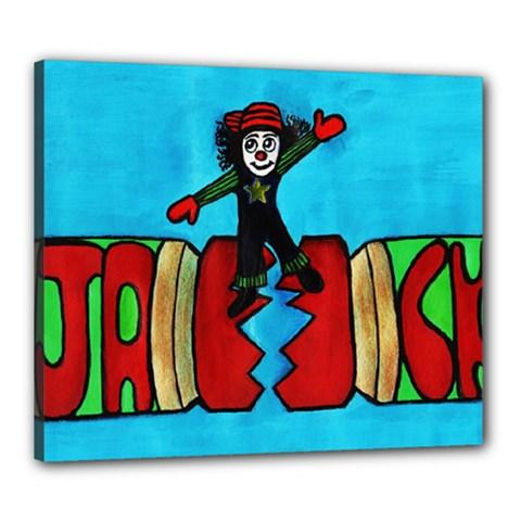 CRACKER JACK Canvas 24  x 20  (Framed) by JUNEIPER07