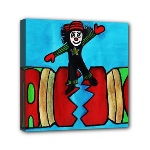 Cracker Jack Mini Canvas 6  X 6  (framed) by JUNEIPER07