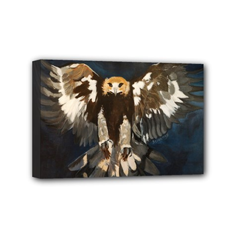 Golden Eagle Mini Canvas 6  X 4  (framed) by JUNEIPER07