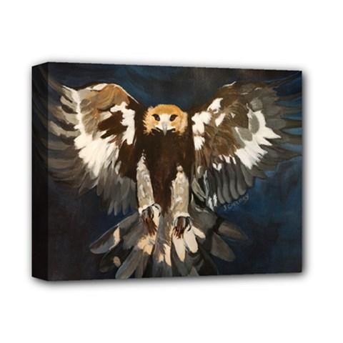 Golden Eagle Deluxe Canvas 14  X 11  (framed)
