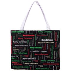Merry Christmas Typography Art Full All Over Print Tiny Tote Bag by StuffOrSomething