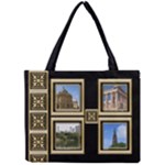 Blackand Gold Full Tiny Tote - Mini Tote Bag
