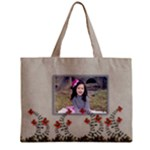 Tiny Tote Bag : Garden of Flowers - Mini Tote Bag