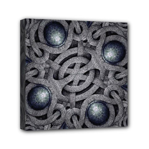 Mystic Arabesque Mini Canvas 6  X 6  (framed) by dflcprints