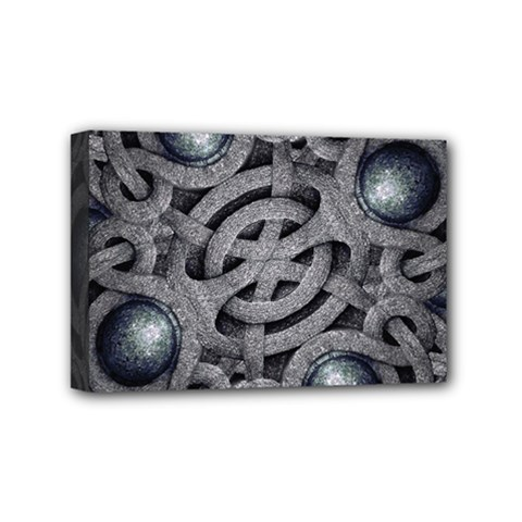 Mystic Arabesque Mini Canvas 6  X 4  (framed) by dflcprints