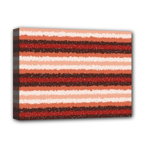 Horizontal Native American Curly Stripes   1 Deluxe Canvas 16  X 12  (framed)  by BestCustomGiftsForYou