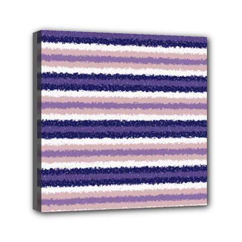 Horizontal Native American Curly Stripes   2 Mini Canvas 6  X 6  (framed) by BestCustomGiftsForYou