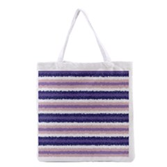 Horizontal Native American Curly Stripes   2 All Over Print Grocery Tote Bag