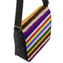 Horizontal Vivid Colors Curly Stripes - 1 Flap Closure Messenger Bag (Small) View2