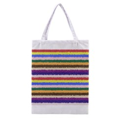 Horizontal Vivid Colors Curly Stripes   1 All Over Print Classic Tote Bag by BestCustomGiftsForYou