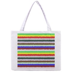 Horizontal Vivid Colors Curly Stripes   2 All Over Print Tiny Tote Bag by BestCustomGiftsForYou
