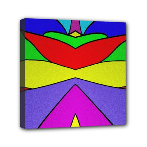 Abstract Mini Canvas 6  X 6  (framed) by Siebenhuehner