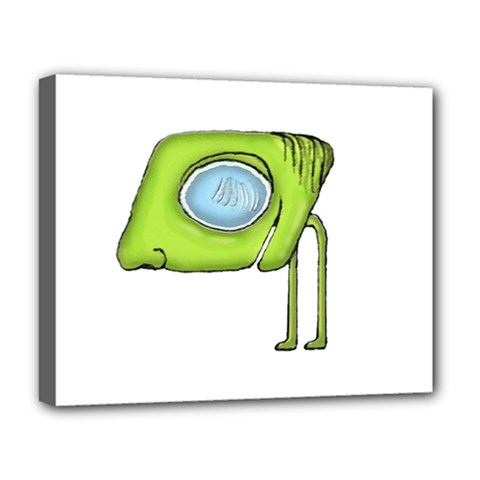 Funny Alien Monster Character Deluxe Canvas 20  X 16  (framed) by dflcprints