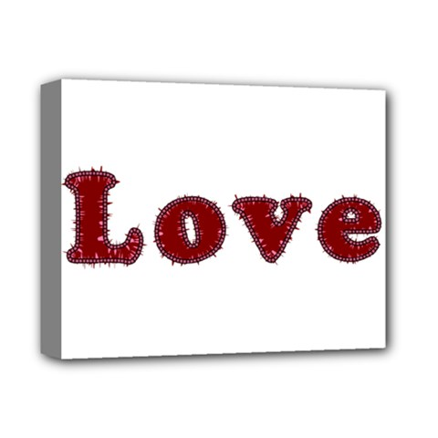 Love Typography Text Word Deluxe Canvas 14  X 11  (framed) by dflcprints
