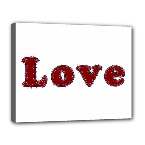 Love Typography Text Word Canvas 14  X 11  (framed) by dflcprints