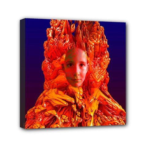 Organic Meditation Mini Canvas 6  X 6  (framed) by icarusismartdesigns