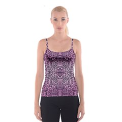 Pink Leopard  All Over Print Spaghetti Strap Top by OCDesignss