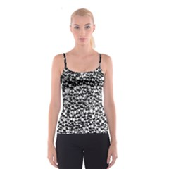 White Cheetah Bling All Over Print Spaghetti Strap Top by OCDesignss
