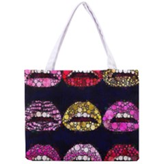 Bling Lips  All Over Print Tiny Tote Bag by OCDesignss
