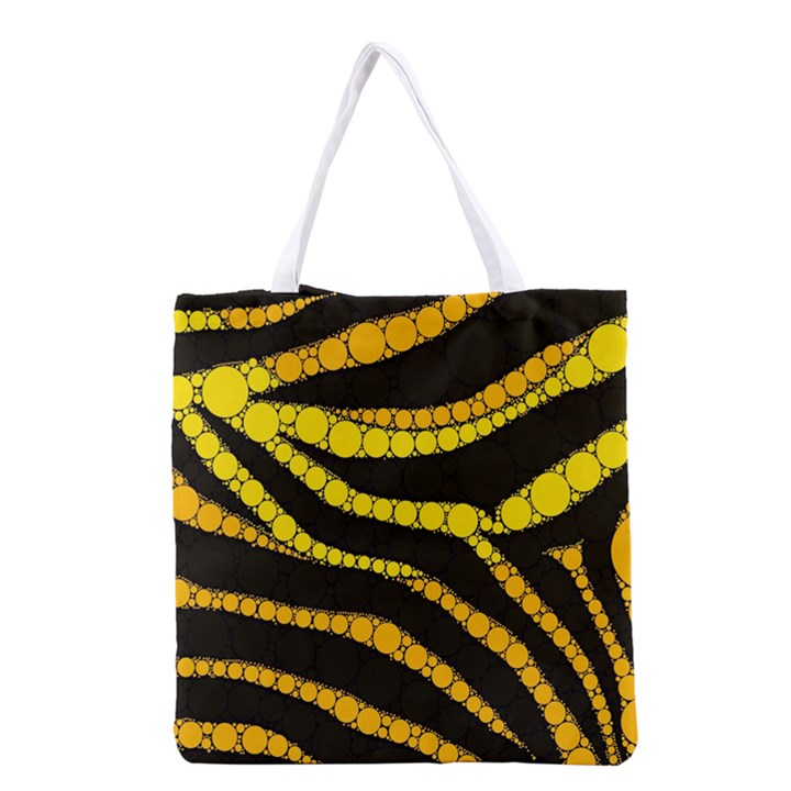 Yellow Bling Zebra  All Over Print Grocery Tote Bag