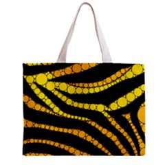 Yellow Bling Zebra  All Over Print Tiny Tote Bag