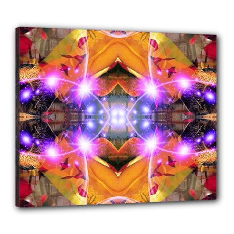 Abstract Flower Canvas 24  X 20  (framed) by icarusismartdesigns