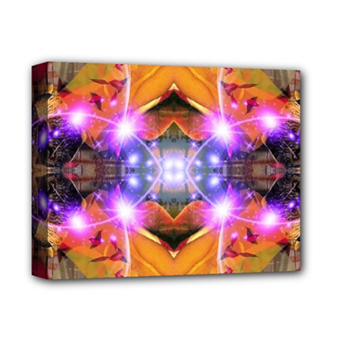 Abstract Flower Deluxe Canvas 14  X 11  (framed) by icarusismartdesigns