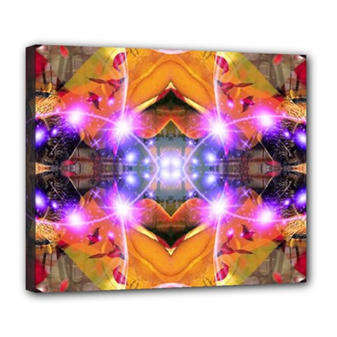 Abstract Flower Deluxe Canvas 24  X 20  (framed) by icarusismartdesigns