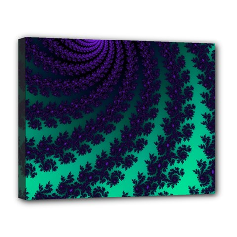 Sssssssfractal Canvas 14  X 11  (framed) by urockshop