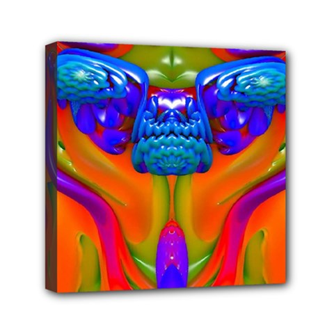 Lava Creature Mini Canvas 6  X 6  (framed) by icarusismartdesigns