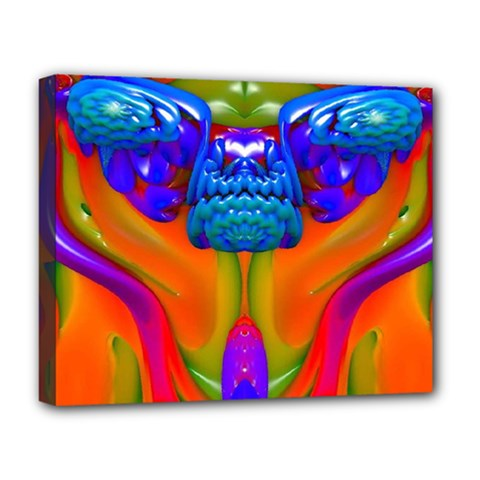 Lava Creature Deluxe Canvas 20  X 16  (framed) by icarusismartdesigns