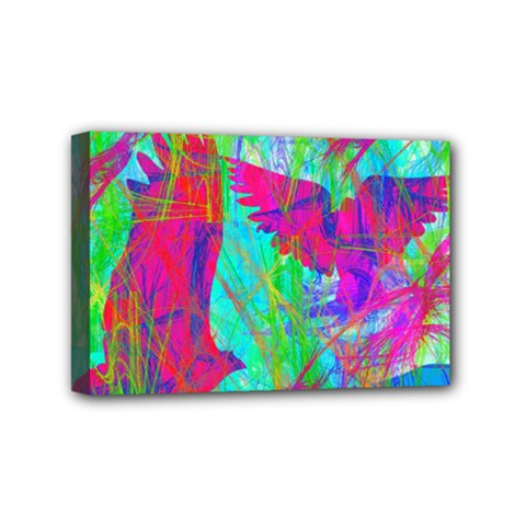Birds In Flight Mini Canvas 6  X 4  (framed) by icarusismartdesigns