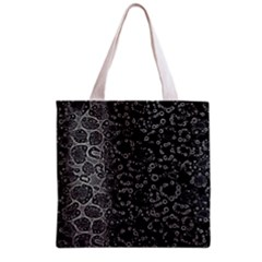 Black Cheetah Abstract All Over Print Grocery Tote Bag by OCDesignss