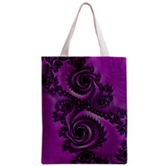 Purple Dragon Fractal  All Over Print Classic Tote Bag by OCDesignss