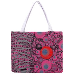 Pink Zebra Abstract All Over Print Tiny Tote Bag by OCDesignss