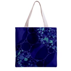 Purple Turquoise Abstract All Over Print Grocery Tote Bag