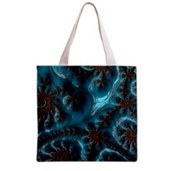Glossy Turquoise  All Over Print Grocery Tote Bag