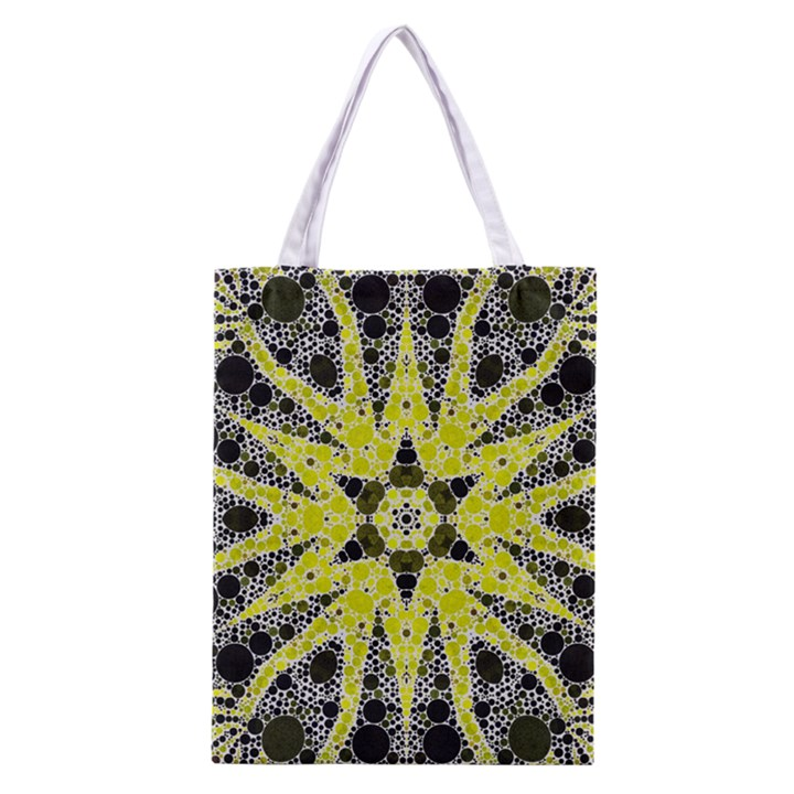 Bright Yellow Black  All Over Print Classic Tote Bag