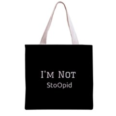 I m Not Stupid  All Over Print Grocery Tote Bag by OCDesignss