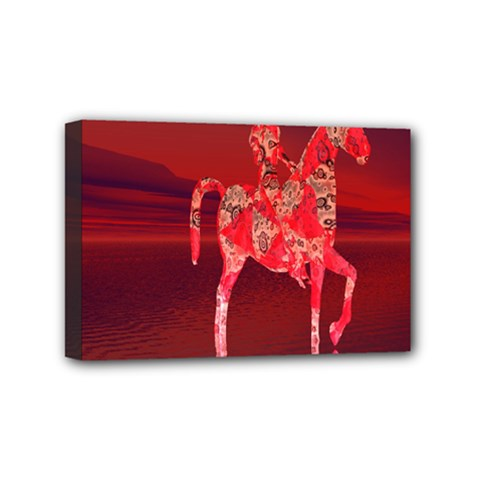 Riding At Dusk Mini Canvas 6  X 4  (framed) by icarusismartdesigns