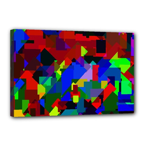 Pattern Canvas 18  X 12  (framed) by Siebenhuehner