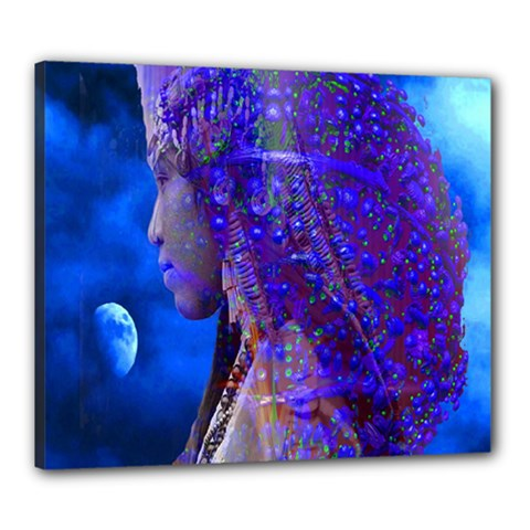 Moon Shadow Canvas 24  X 20  (framed) by icarusismartdesigns