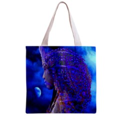 Moon Shadow All Over Print Grocery Tote Bag by icarusismartdesigns