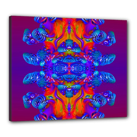 Abstract Reflections Canvas 24  X 20  (framed) by icarusismartdesigns