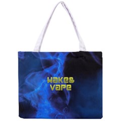 Wake&vape Blue Smoke  All Over Print Tiny Tote Bag by OCDesignss