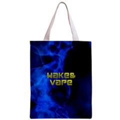 Wake&vape Blue Smoke  All Over Print Classic Tote Bag by OCDesignss