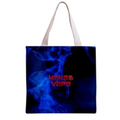Wake&vape Blue Smoke  All Over Print Grocery Tote Bag by OCDesignss